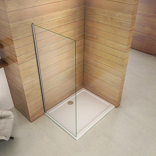 Paroi de douche 50x200cm paroi de douche à litalienne verre anticalcaire paroi de fixation