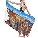 Telo da mare in microfibra ad asciugatura rapida, Firenze Duomo, telo da mare morbido e leggero per il campeggio Viaggi in spiaggia Nuoto Yoga Palestra 52 'x 32'