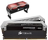 Corsair Dominator Platinum - Módulo de Memoria XMP 2.0 de Alto Rendimiento de 16 GB (2 x 8 GB, DDR4, 3466 MHz, C16, con Ventilador Dominator Airflow RGB LED)