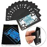 Playing Cards Standard Spielkarten Wasserfeste Designer Profi Plastik Pokerkarten Zwei Eckzeichen - Deluxe Kartenspiele mit Jumbo Index - Profi Premium Spielkarten für Holdem Poker (2-Packung) -