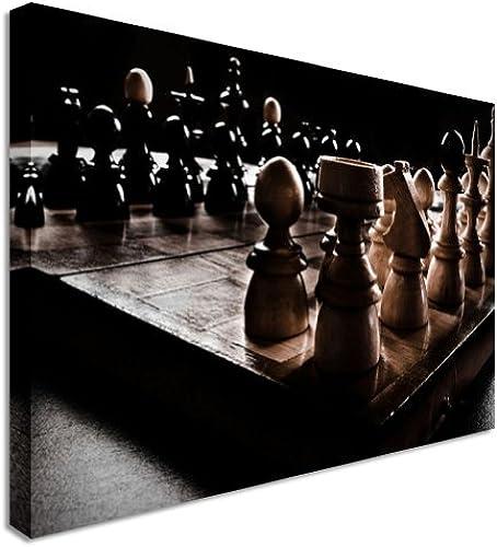 Antike Chess Set Dark Kunstdruck auf Leinwand Art Wand 50,8 76,2