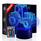 Tractor 3D Illusion Lamp Night Light Beside Table Lamp, Jawell 7 Colors Auto Changing Touch Switch Desk Decoration Lamps Birthday Christmas Gift with Acrylic Flat & ABS Base & USB Cable Desk Lamp