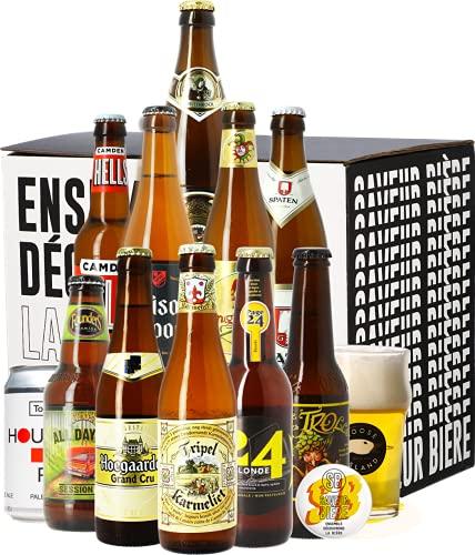 Coffret Bières Blonde - 11 bières et 1 verre - Idée...