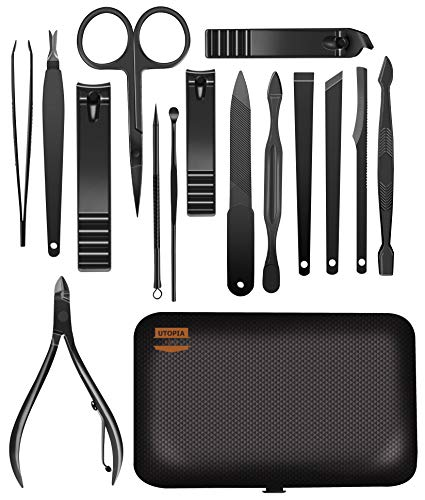 Beauty Shopping 15-Piece Manicure Set for Women Men Nail Clippers Stainless Steel Manicure Kit –