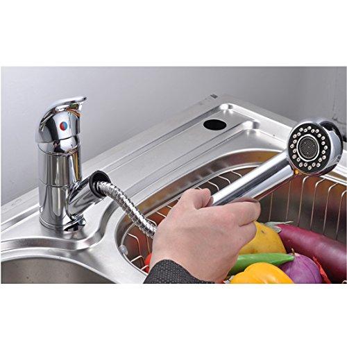 Baytter Einhebel Waschtischarmatur Wasserhahn Spültisch Küche Waschtisch Waschenbecken Bad - 4