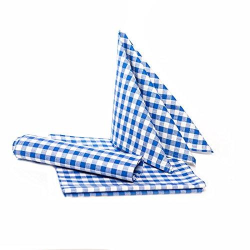 TextiDepot24 geruit tafelkleed voor biertafels - kleur en grootte naar keuze - 100% katoen