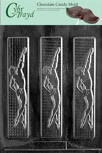 Cybrtrayd S009 Sports Chocolate Candy Mold, Male Swimmer