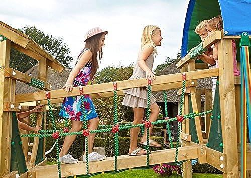 AVANTI TRENDSTORE - Holzbrücke für Spielturm mit Sicherheitsnetz, ca. 90x65x180 cm