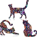 WILLBOND 9 Pieces Acrylic Cat Brooch Pin Cute Different Animal Pattern Lapel Pin Badges Accessory Colorful