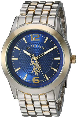 U.S. Polo Assn. Men's Analog-Quartz Watch with Alloy Strap, Two Tone, 23.8 (Model: USC80466)