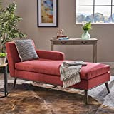 Christopher Knight Home Sophia Mid Century Modern Fabric Chaise Lounge,...