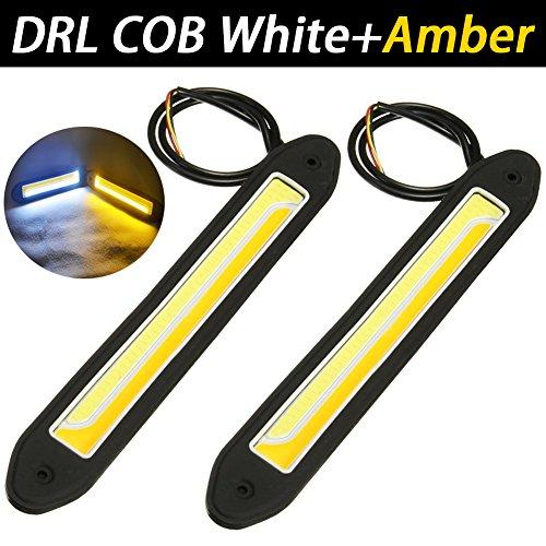 TABEN Lot de 2 feux de circulation diurnes LED COB étanches haute puissance 6 W 6000 K Blanc