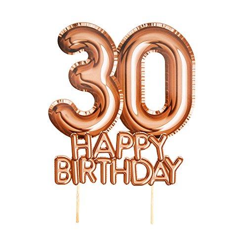Neviti 773550 Glitz & Glamour - Cake Topper - Rose Gold - Leeftijd 30