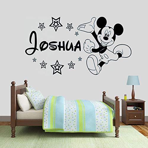 Anime dibujos animados ratón etiqueta de la pared de dibujos animados personalidad nombre vinilo ventana calcomanías niños dormitorio jardín de infantes linda decoración interior