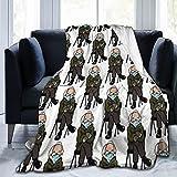 Manta de forro polar de franela, suave, ligera, cálida, acogedora, para mujeres y adultos y niños, regalo para sofá cama, sofá de 150 x 100 cm
