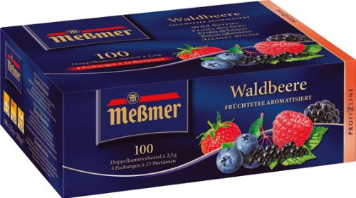 Meßmer ProfiLine Waldbeere 100 x 2.5 g, 1er Pack (1 x 250 g)