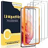 [3 Pack] UniqueMe Protector de Pantalla Compatible con Samsung Galaxy S21, Vidrio Templado [9H Dureza] HD Film Cristal Templado