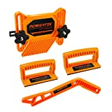 POWERTEC 71552 4-Piece Universal Featherboard Woodworking Safety Kit w/Magnetic Push Stick and Deluxe Push Blocks for Table Saws, Router Tables, Jointers