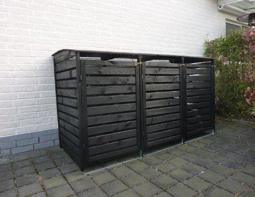 Mülltonnenbox Edelstahl, Modell Eleganza Line, 120 Liter - 2