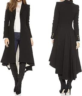 Woolen Tuxedo Coat Slim Long Woolen Jacket