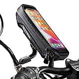 WACCET [Nueva Generación] Soporte Movil Moto Impermeable Moto Smartphone Soporte con Cubierta de Lluvia Soporte Movil Scooter para iPhone XS MAX/XR/X/8Plus Samsung S9/S8/S7 hasta 6,5''