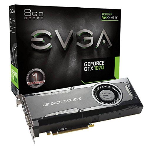 EVGA GeForce GTX 1070 Gaming Grafikkarte (8GB, GDDR5, DVI, HDMI, 3x DisplayPort)