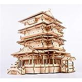 Batop 3D Puzzle Holzpuzzle, 303Pcs Tengwang Pavillon Holzpuzzle Montage Konstruktor Kit - Kreatives Geschenk für Erwachsene Kinder