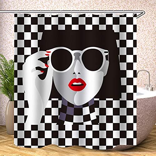 cortinas de baño mosaico baratas