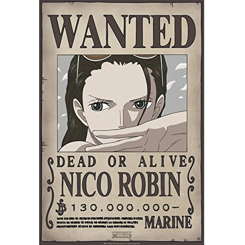 """ABYstyle - One Piece – """"Wanted Robin New"""" Poster (52 x 35)"""
