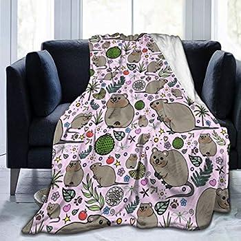 DaLmo Home Quokka Party Sofa Blanket Super Soft Plush Unisex Autumn Winter Warm Flannel Blankets