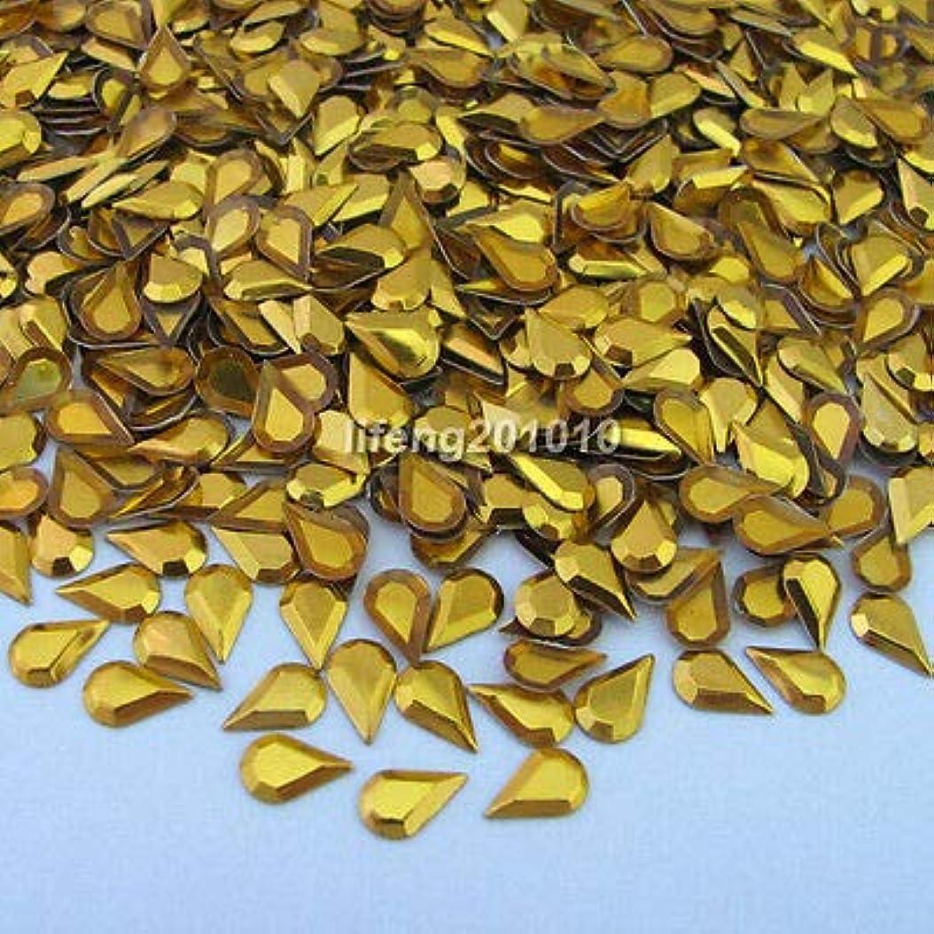 ラオス人蜜読者FidgetGear 1000PCS 3Dは合金の釘の芸術のラインストーンの金属の携帯電話の装飾のスタッドを落とします ゴールド