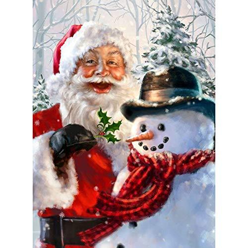 wtnhz Pintura digitalDIY Serie de Navidad 14 Pintura Al Óleo Digital Kits Regalos para niños Regalo para Adultos o niños 40x50cm(Sin Marco)