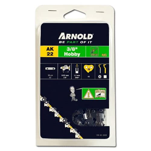 Arnold 1191-X1-0004 - Catena per motosega amatoriale, passo 3/8'', 1,3 mm, 45 maglie, per spranga da 30 cm
