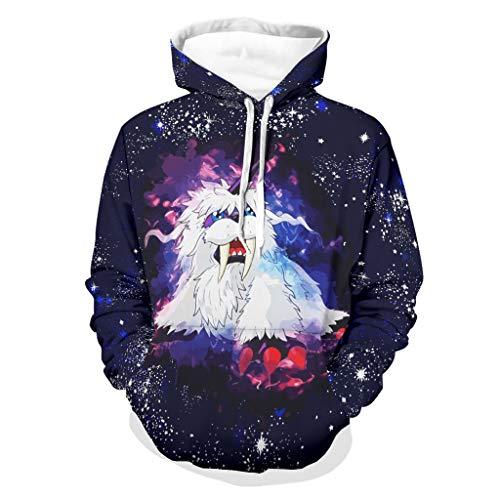Uicoomhill Blusa unisex Anime Hoodies Solid – Loose Comfort Blusa White 4XL