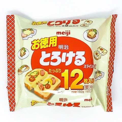お徳用とろけるスライスチーズ 12P192g 【冷凍・冷蔵】 5個
