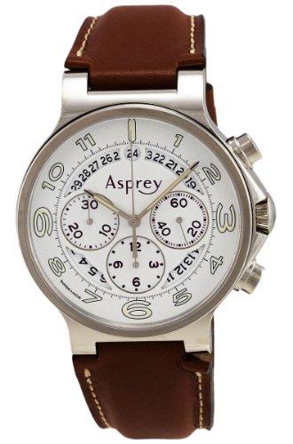 ASPREY OF LONDON No.8 Automatic Chronometer Mens Strap Watch 37 Jewels 1018248