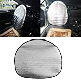 YSHtanj Funda para volante de coche, decoración interior, funda para volante de algodón grueso anti automoción, accesorio de parasol – Plata