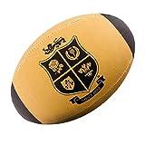 Rhino British Lions édition limitée Rétro Midi Ballon de Rugby [Brun Clair]