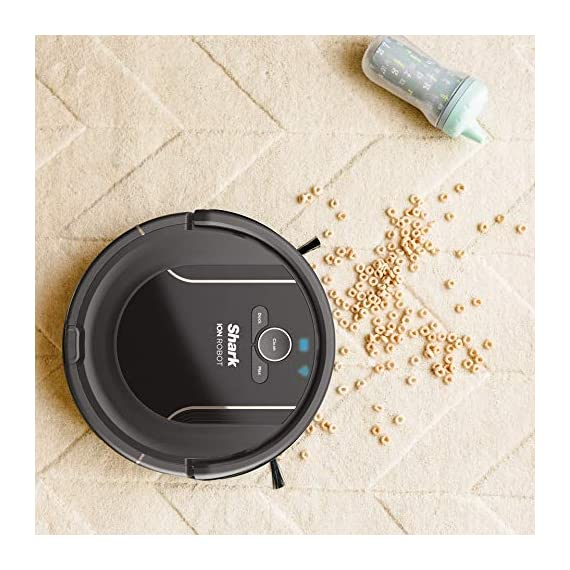 SHARK ION Robot Vacuum R85 WiFi-Connected with Powerful Suction, XL Dust Bin, Self-Cleaning Brushroll and Voice Control… 3 Shark has built upon a high performing Robot vacuum to deliver powerful suction, XL capacity, and advanced sensor technology for an incredible solution to everyday cleaning Designed for pet hair; Provides powerful floor and carpet cleaning with an xl dust bin and 3X more suction in max mode than the shark ion Robot R75 Download the shark clean app to receive continuous updates, create a cleaning schedule, or start your Robot from anywhere; Voice control available with Alexa or Google assistant