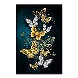 QVQIU Mariposa Estilo nórdico Cartel Impresión en Lienzo Minimalista Abstracto Arte de la Pared Pintura Imagen Decorativa Decoración Moderna para el hogar Sin Marco 20x30 cm