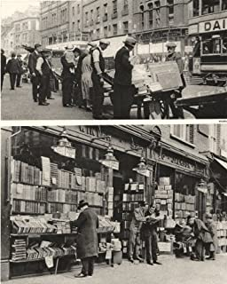 LONDON. Hunt for Bargains in books Shoreditch & Charing-Cross road - 1926 - old print - antique print - vintage print - printed prints of London