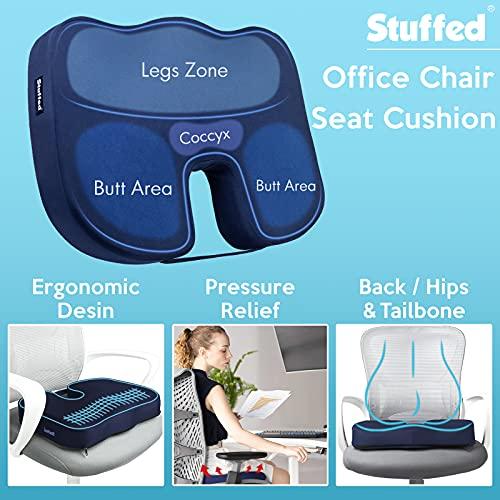 Stuffed Gel Seat Cushion For Long Sitting
