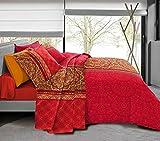 Pack Complet 6 pièces Housse de Couette 220 x 240 cm pour lit 160 x 200 cm 100% Coton / 5...