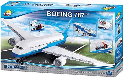 Juminox Spielzeug Konstruktion Flugzeug Boeing 787 Dreamliner Bausteine + Mauspad Gratis