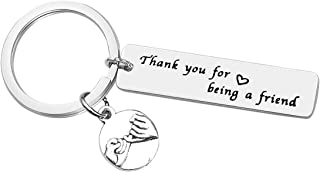 Best Friend Keychain Friendship Key Ring Thank You for Being A Friend Keychain Friendship Jewelry Friend Appreciation Gift Christmas Birthday Gifts for Best Friend