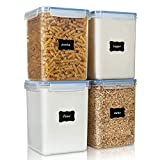 Large Food Storage Containers 5.2L / 176oz, Vtopmart 4 Pieces BPA Free Plastic Airtight Food Storage...