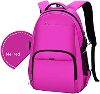 PANFU-AU Water-Repellent Bag,Travel Backpack,College Stylish Daypack School Laptop Backpack 16 Inch Computer Backpack (Color : Pink, Size : L)