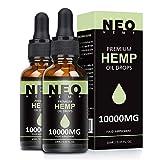 Premium Hemp Natural Oil,High Strength Hemp Pure Oil, Vegan Friendly, Advanced Formula from USA (2 Pack)