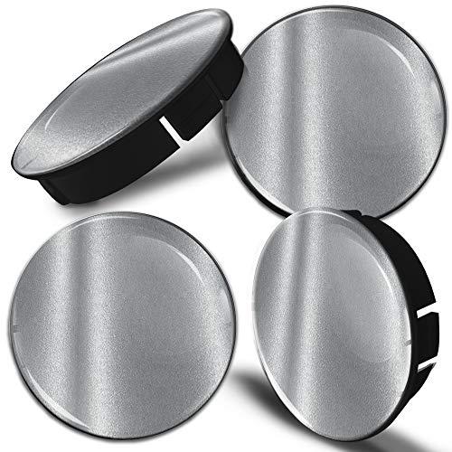 Biomar Labs® 4 x 60mm Silikon Nabenkappen Kappen Silber Felgendeckel Radkappen Radnabendeckel Nabendeckel Auto Tuning C 97