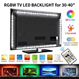 BASON LED TV Hinterhrundbeleuchtung, RGBW Led Strip, LED Streifen für 30-40 Zoll HDTV, 6.17ft/188cm Fernseher Led Beleuchtung Led Leiste mit Fernbedienung, Angetrieben durch Fernsehapparat USB-Hafen.